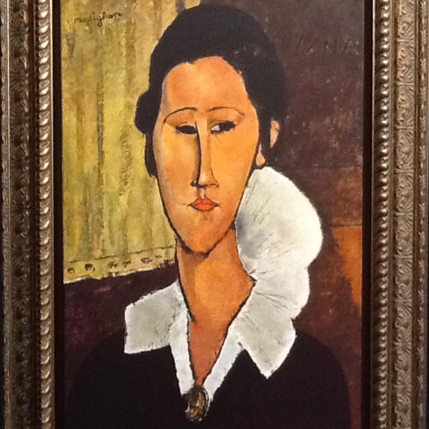 Portrait of Hanka Zborowska by Amedeo Modigliani, 2018