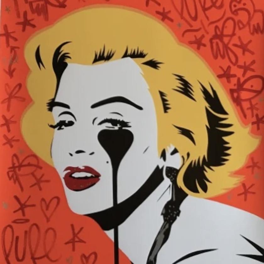 Hand Finished Marilyn Glam Tangerine Dream, 2020