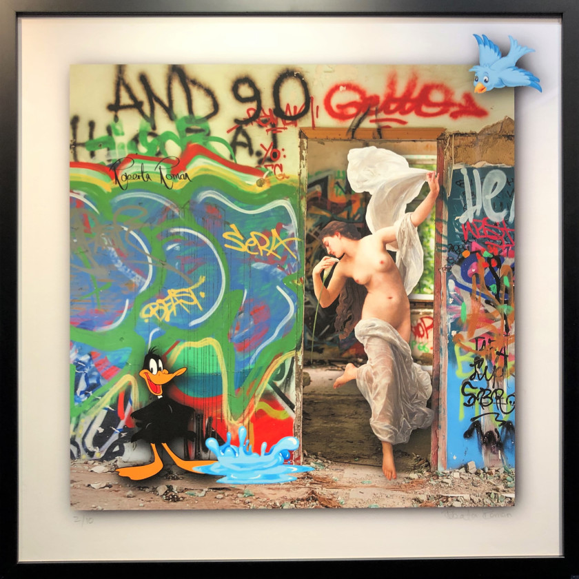 Graffiti Nude with Daffy Duck, 2019
