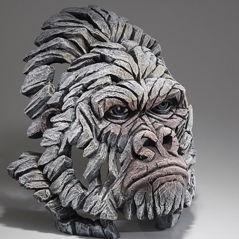 Gorilla Bust - White
