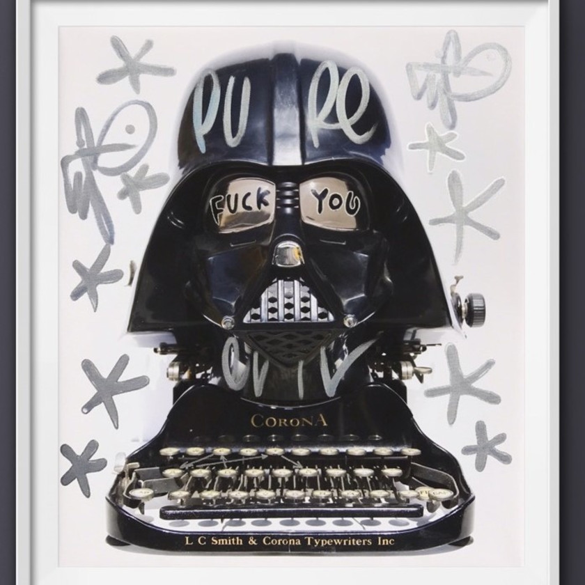 F**K You Corona - Canvas- Tagged Darth Typewriter, 2020
