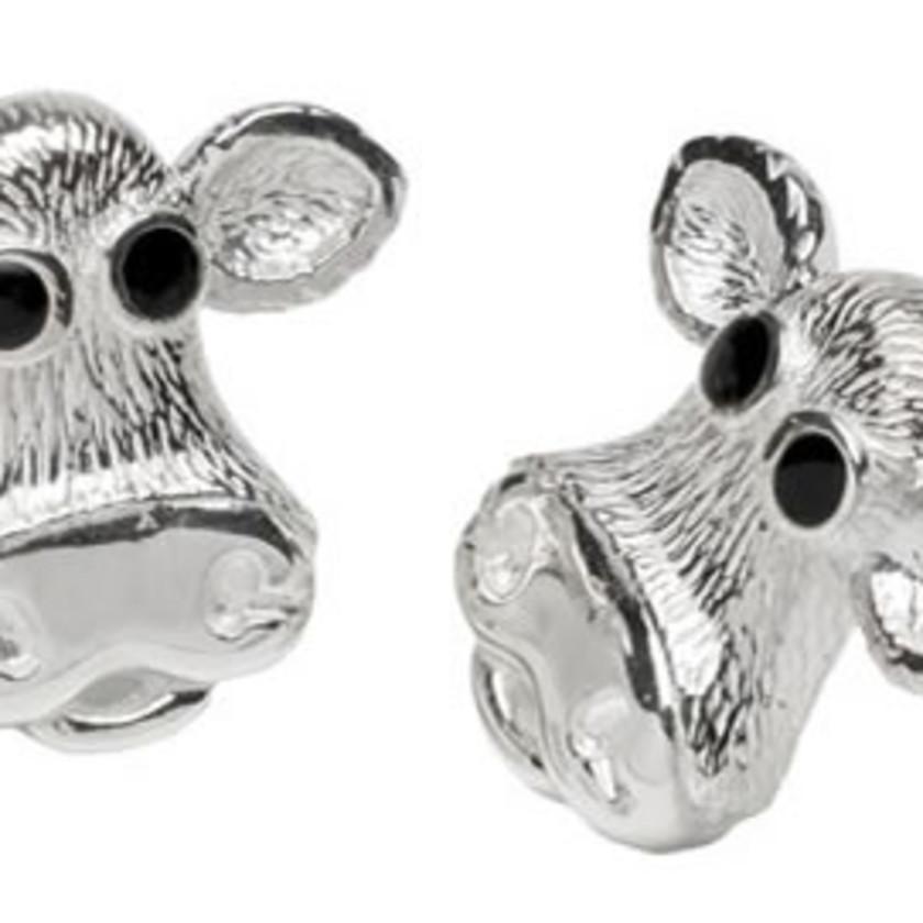 Moo! Sterling Silver Earrings
