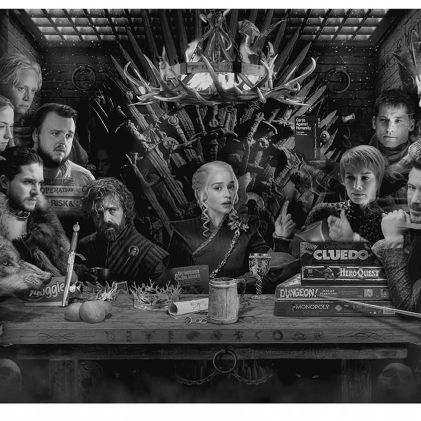 Board of Games - B&W, 2017