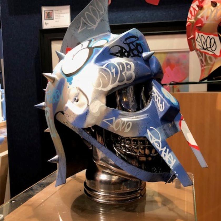 Vandal Helmet - Blue/Silver, 2018