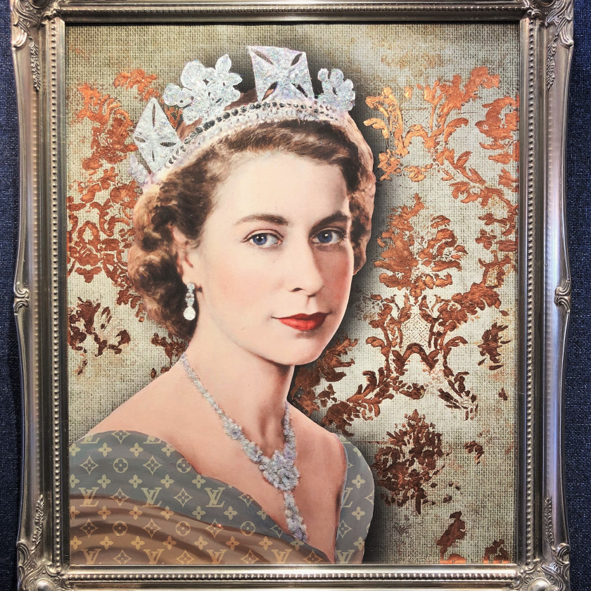 Elizabeth with Flock Wallpaper, 2019