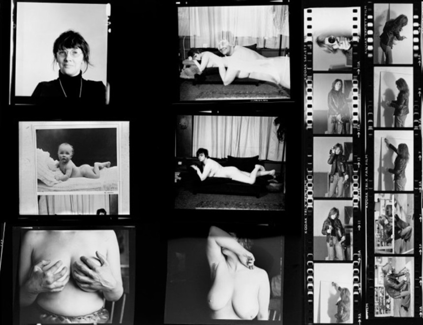 Alexis Hunter and Jo Spence contact sheets