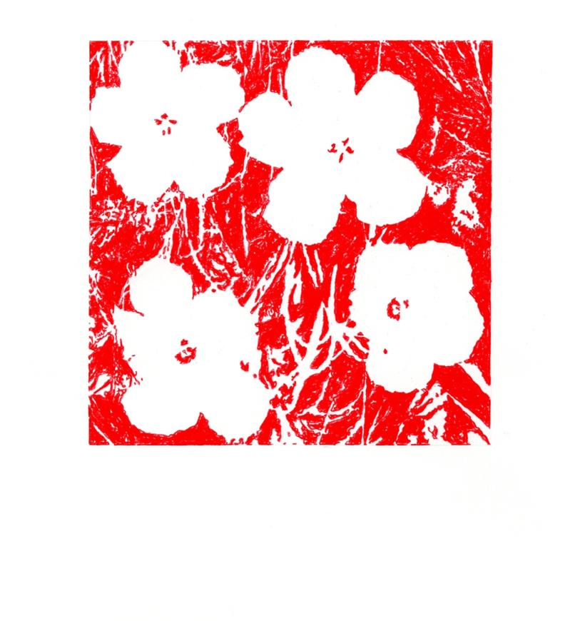 "John Zinsser, After Andy Warhol, ""Flowers,"" 1964 (Red), 2011"