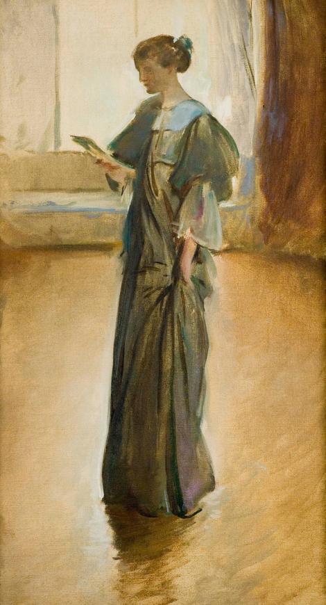 John White Alexander, Standing Woman Reading a Letter, Onteora Studio, circa 1912