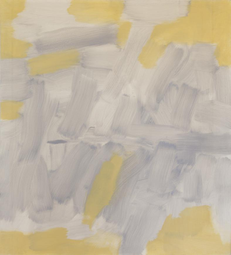Carl Holty, Untitled (Gray, Yellow), 1965