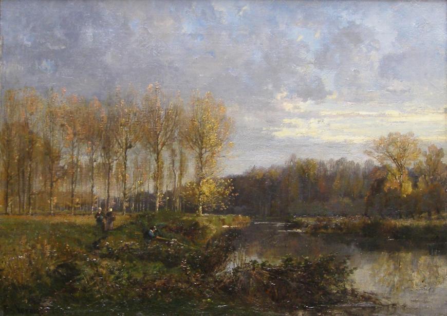 Alexandre René Veron, Pêcheurs et Paysannes au Bord de la Rivière, 1875
