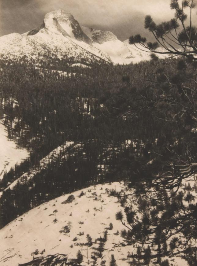 Ansel Adams, Mt. Galen Clark, Circa 1920s, printed 1927