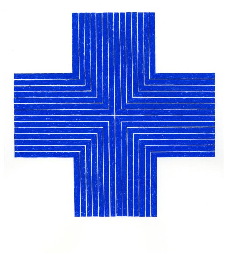 "John Zinsser, After Frank Stella, ""Ourway,"" 1960-61 (Blue), 2011"