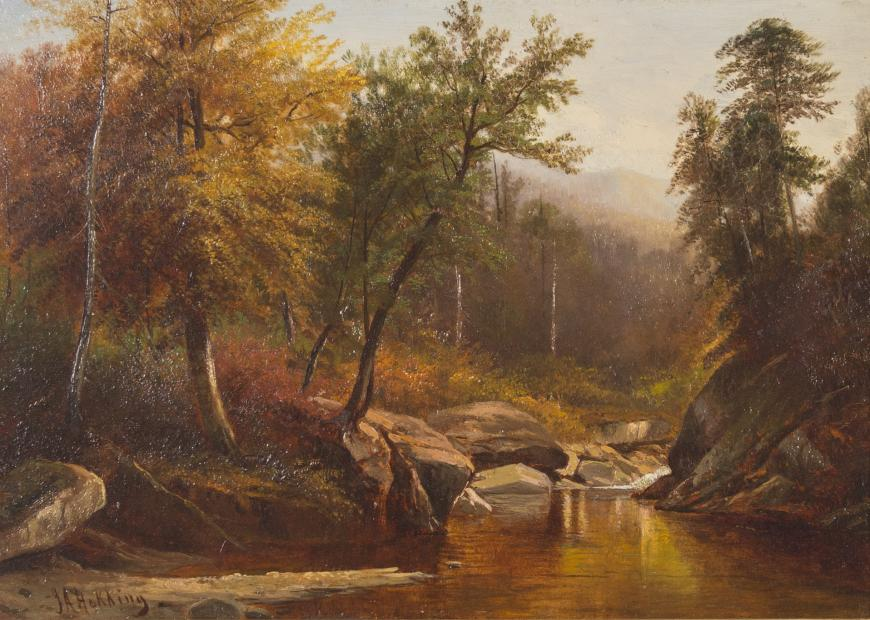 Joseph Antonio Hekking, Mountain Stream in the Adirondacks, Circa 1865