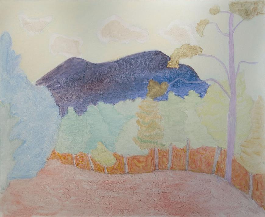 Sally Michel Avery, Pink Field — Dark Mountain, 1980