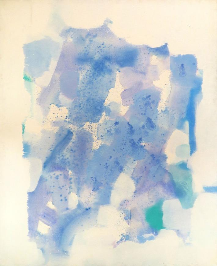 Carl Holty, Untitled (Blue, Green, Purple), Circa 1968