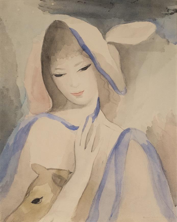 Une Jeune Femme avec un Chien