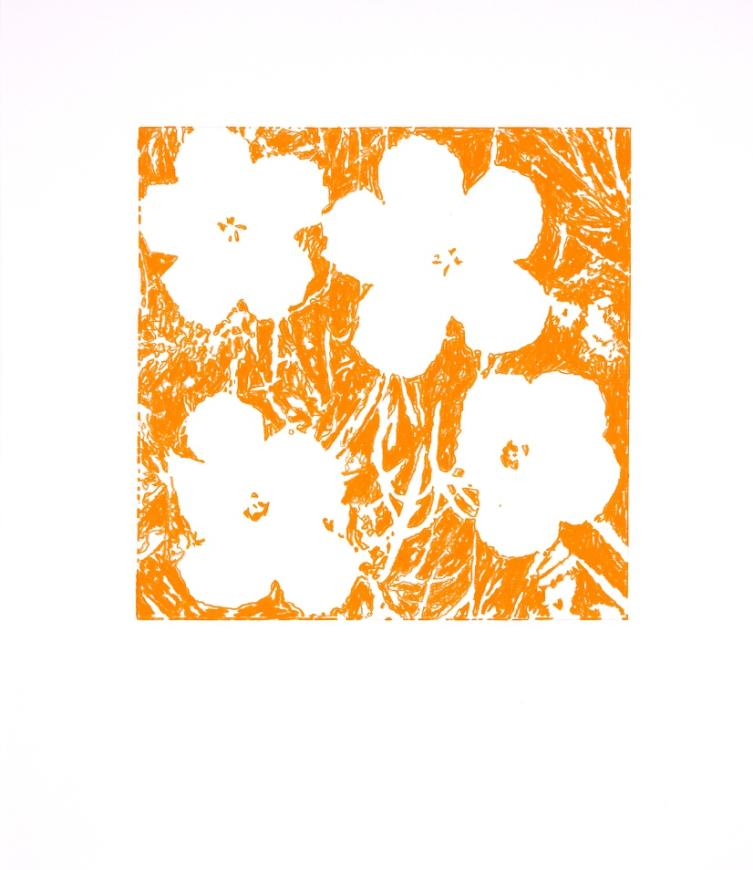 "John Zinsser, After Andy Warhol, ""Flowers,"" 1964 (Orange), 2011"