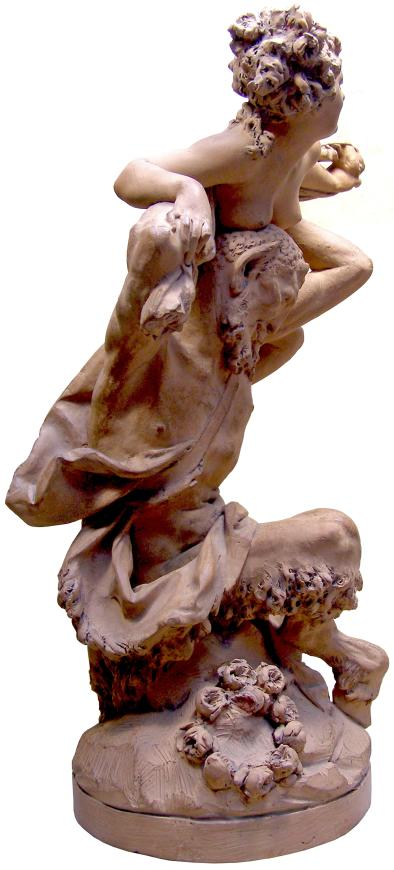 A Nymph and Satyr