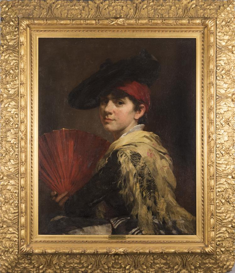 Portrait with Yellow Shawl and Fan
