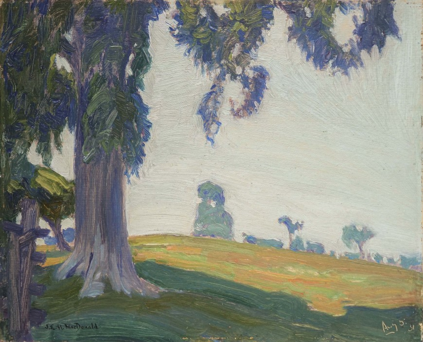 "<span class=""artist""><strong>J.E.H. MacDonald</strong></span>, <span class=""title""><em>Pasture Elm, Thornhill </em>, 1931 (5 August)</span>"