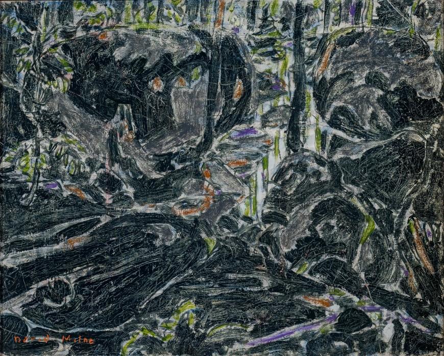"<span class=""artist""><strong>David Milne</strong></span>, <span class=""title""><em>Stream in the Bush (Boulders in the Bush II) (Big Moose Lake, Adirondacks, New York)</em>, 1926</span>"
