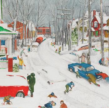Balsam Avenue after Heavy Snowfall - Avenue Balsam après une abondante chute de neige