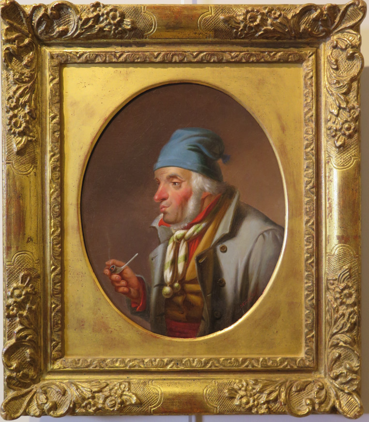 Habitant with a Pipe and Blue Toque