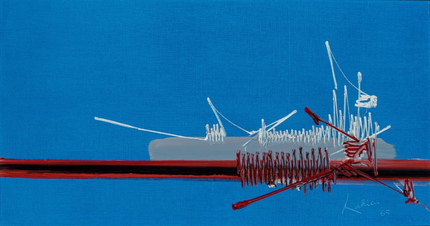 "<span class=""artist""><strong>Georges Mathieu</strong></span>, <span class=""title""><em>Kahnawaké</em>, 1965</span>"