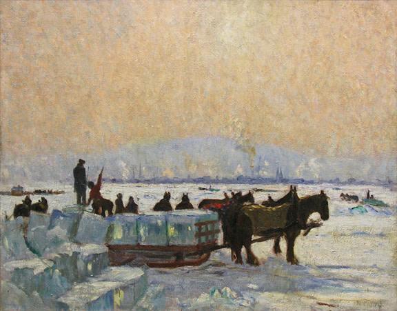 Sunny Day, Ice Cutting, Montreal - Journée ensoleillée, récolte de glace, Montréal