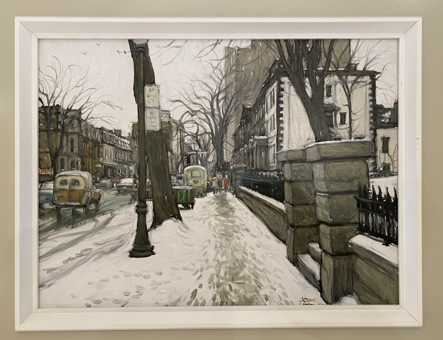 April Snow, 40 Years ago, Sherbrooke Street at McTavish