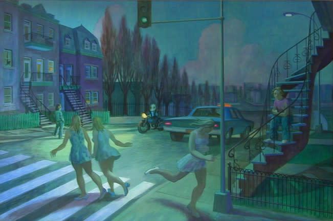 """<span class=""""artist""""><strong>Philip Surrey, C.M., LL.D., R.C.A.</strong></span>, <span class=""""title""""><em>Blue Twilight - Crépuscule blue</em>, 1974</span>"""