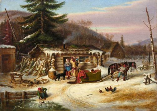 Early Canadian Settlers, Laurentians - Habitants canadiens-français dans les Laurentides
