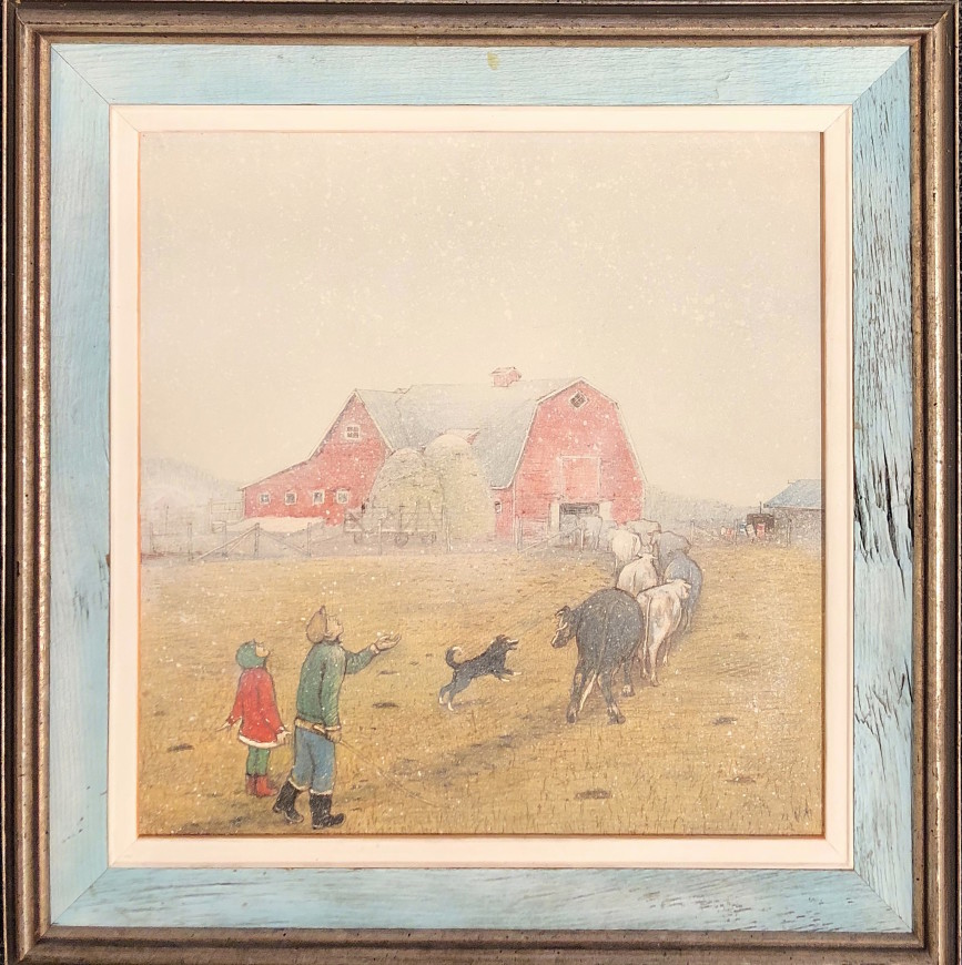 "The First Snowfall, from ""A Prairie Boy's Winter"" series"