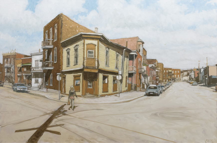 "<span class=""artist""><strong>John Little</strong></span>, <span class=""title""><em>Corner Grocery at Ste. Clotilde, Bourassa and Cote St. Paul</em>, 2010</span>"