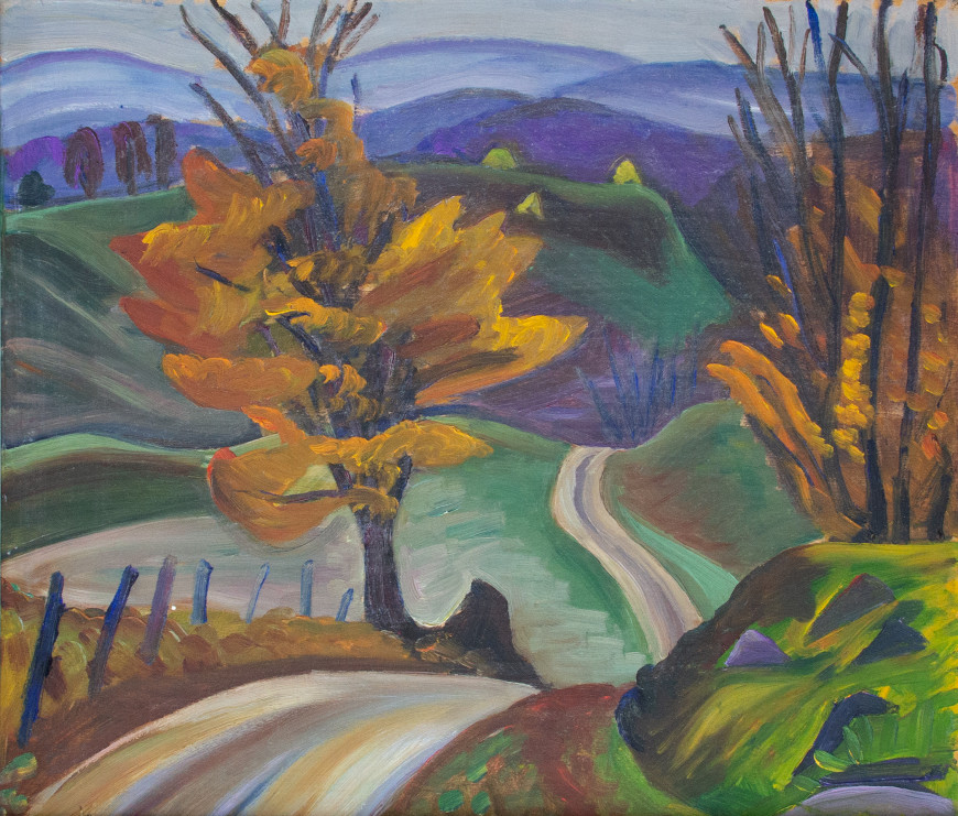 Autumn Road in Knowlton