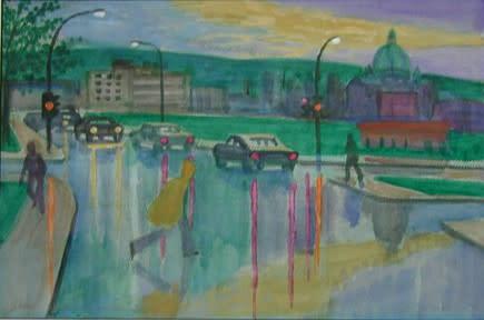 """<span class=""""artist""""><strong>Philip Surrey, C.M., LL.D., R.C.A.</strong></span>, <span class=""""title""""><em>Study for Decelles at Jean Brillant - Étude pour rue Decelles à Jean Brillant</em></span>"""