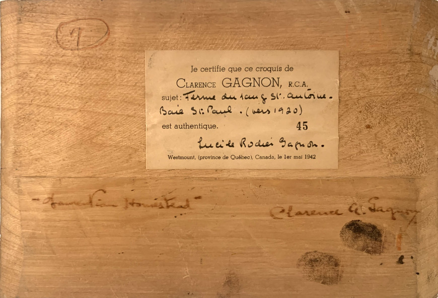 Laurentian Homestead, Ferme du rang St. Antoine, Baie St. Paul