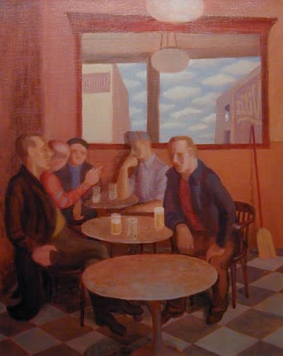 "<span class=""artist""><strong>Philip Surrey, C.M., LL.D., R.C.A.</strong></span>, <span class=""title""><em>Russell's Tavern, Russell Hotel - Taverne Rissell, Hotel Russell</em>, 1952</span>"
