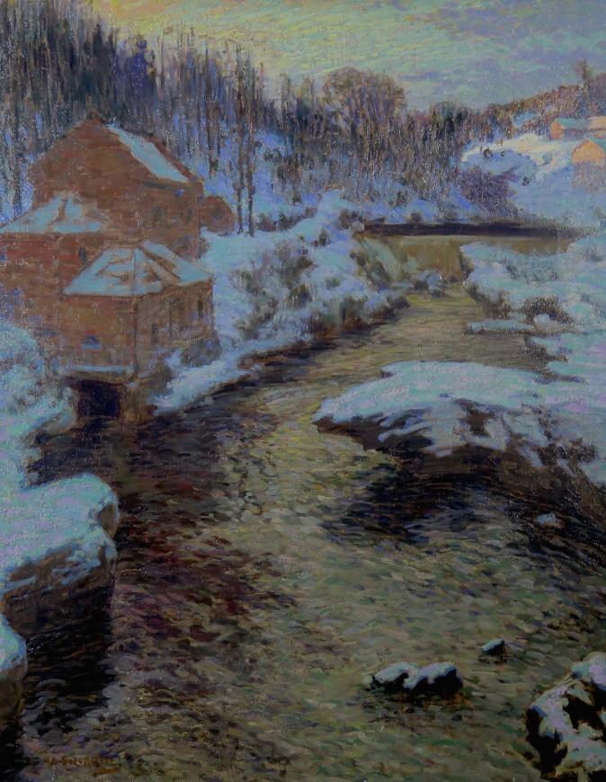 Magog River, Winter - La Rivière Magog en hiver