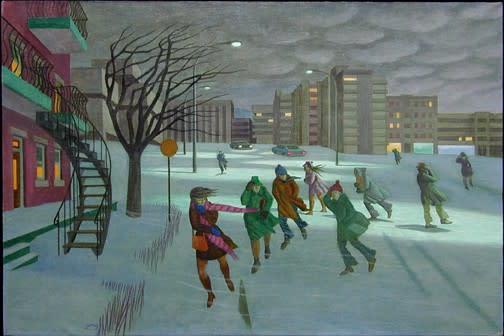 "<span class=""artist""><strong>Philip Surrey, C.M., LL.D., R.C.A.</strong></span>, <span class=""title""><em>Winter Wind - Vent d'hiver</em>, 1971 (circa)</span>"