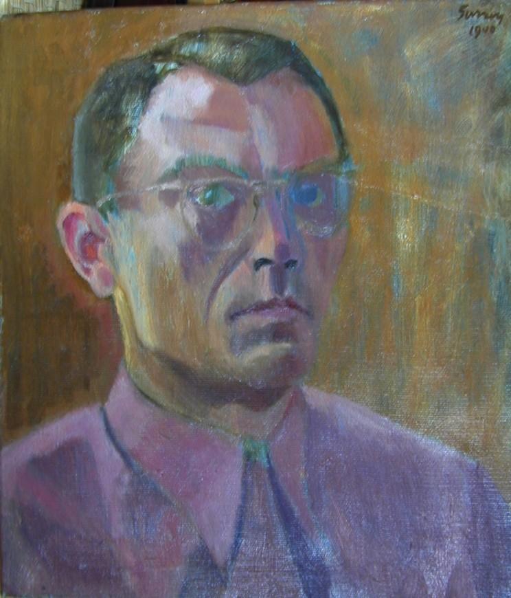 """<span class=""""artist""""><strong>Philip Surrey, C.M., LL.D., R.C.A.</strong></span>, <span class=""""title""""><em>Self-Portrait</em>, 1940</span>"""