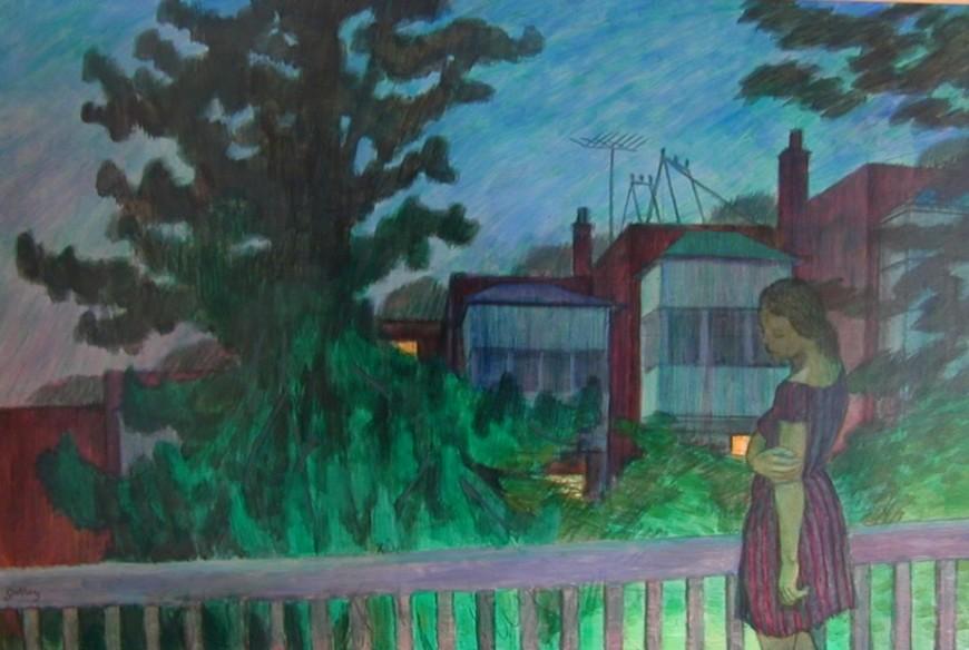 "<span class=""artist""><strong>Philip Surrey, C.M., LL.D., R.C.A.</strong></span>, <span class=""title""><em>Back Verandah, Grosvenor Street - La véranda arrière, rue Grosvenor</em>, 1966</span>"