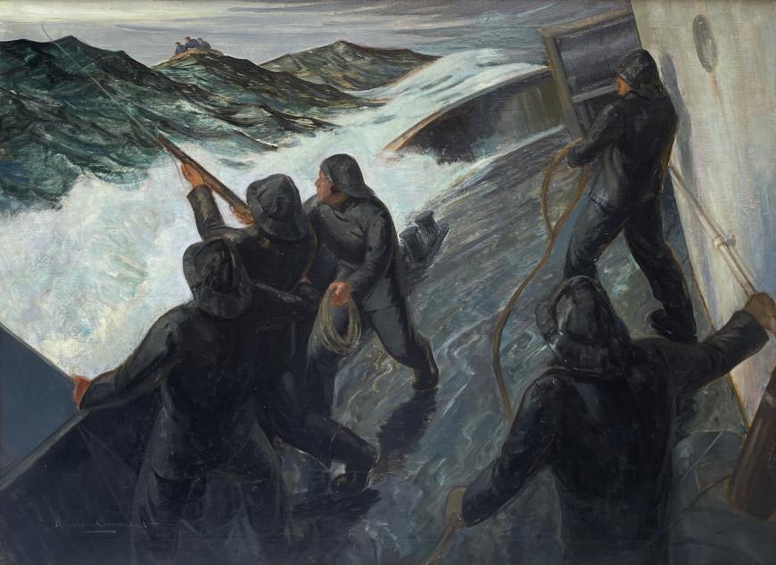 Rescue-Firing a Coston Gun Line