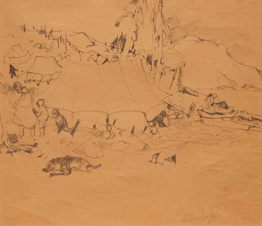 "<span class=""artist""><strong>René Richard</strong></span>, <span class=""title""><em>Campement Indien</em>, 1931 (circa)</span>"