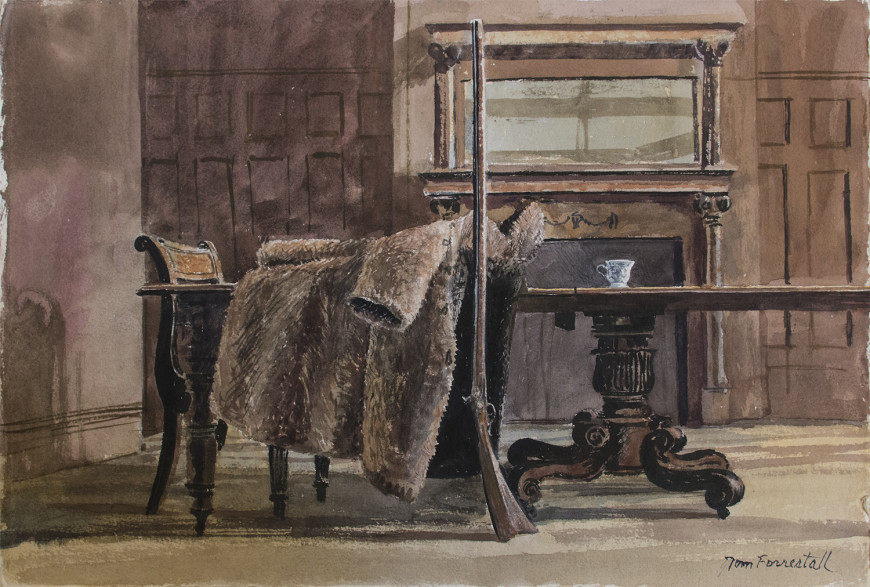 Untitled (Interior with Kentucky Rifle and Fur Coat)