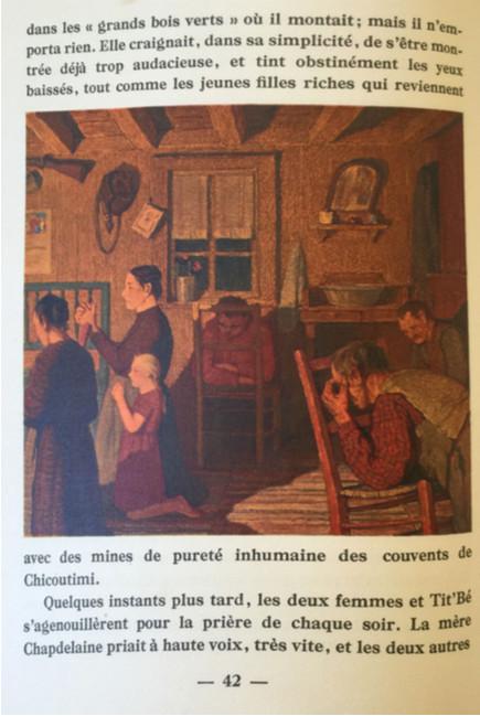 Evening Prayer, Study for an illustration for Maria Chapdelaine p. 42 -  Prière du soir, étude pour une illustration du livre Maria Chapdelaine p. 42