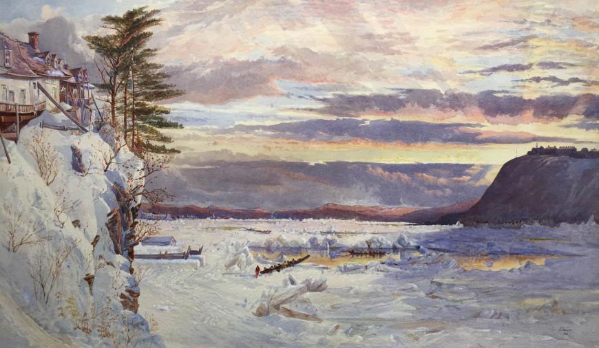Crossing the Ice from Pointe Lévis to Quebec - Traversée de la glace de Pointe Lévis à Québec