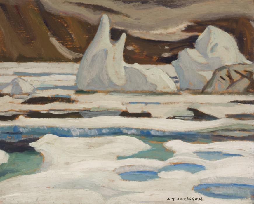 "<span class=""artist""><strong>A.Y. Jackson</strong></span>, <span class=""title""><em>Craig Harbour, Ellesmere Island</em>, 1927</span>"