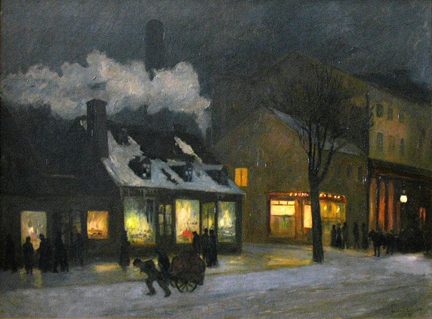Winter Night, Craig Street, Montreal