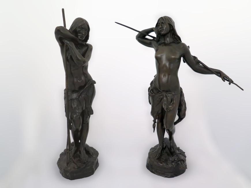"""<span class=""""artist""""><strong>Louis-Philippe Hébert</strong></span>, <span class=""""title""""><em>Soupir du Lac & Fleur des Bois</em></span>"""